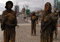 Famine memorial statues in Dublin