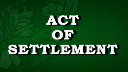 Restoration Act Of Settlement