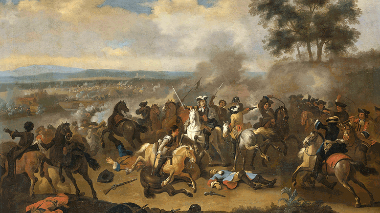 Battle of the Boyne between James II and William III