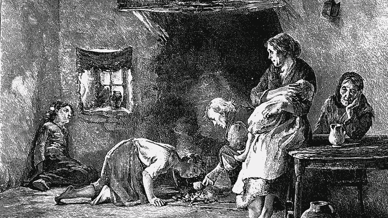 The great famine of Ireland