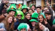 People celebrating St Patrick's Day in Dublin