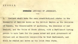 Anglo Irish Treaty of 1921