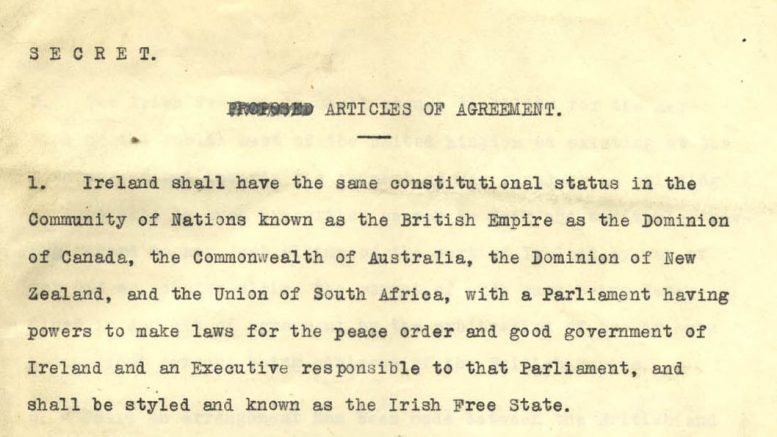 Anglo Irish Treaty of 1921