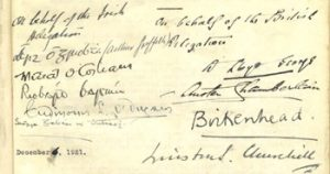 Signatures of the Anglo-Irish Treaty