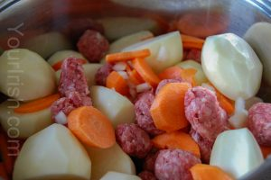 Ingredients for traditional Irish Stew
