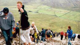 Pilgrimage on Croagh Patrick mountain